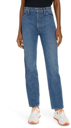 Marc Jacobs The 5-Pocket High Waist Straight Leg Jeans
