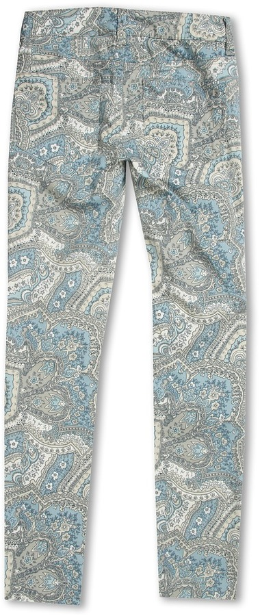 Joe's Jeans Girls' The Printed Jegging in Paisley (Little Kids/Big Kids) (Blue Paisley) - Apparel