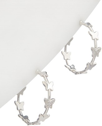Alanna Bess Limited Collection Silver Cz Butterfly Hoops