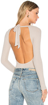 LnA Tie Back Bodysuit in Beige