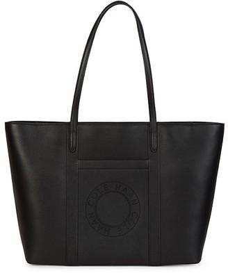 Cole Haan Grandseries Leather Logo Zip Top Tote Bag