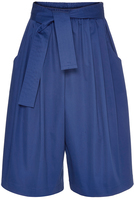 Tome Blue Cotton Sateen Cropped Karate Pants