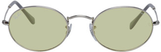 Ray-Ban Silver and Yellow Evolve Oval Sunglasses