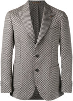 Gabriele Pasini - checked pattern blazer - men - Linen/Flax/Viscose - 48