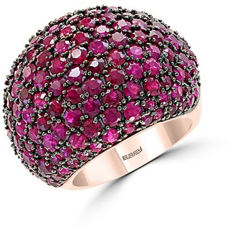 Effy 14K Rose Gold Natural Ruby Dome Ring