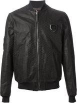 monogrammed bomber jacket