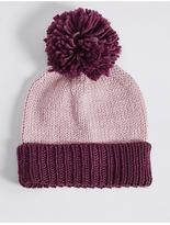 M&S Collection Bobble Winter Hat