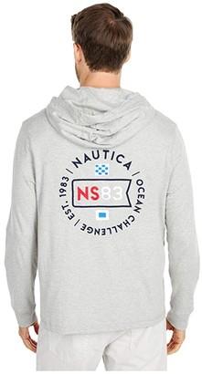 Nautica Hooded T-Shirt (Grey Heather) Men's Clothing