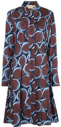 Marni geometric-print shirt dress