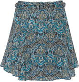 Joie Earlene printed silk-chiffon mini skirt
