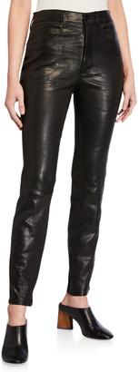 Frame Le Sylvie Leather Slim Pants