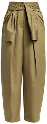 Alexander Wang Tie-Front Tapered Trousers
