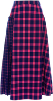 Tanya Taylor Seersucker Plaid Nicola Skirt