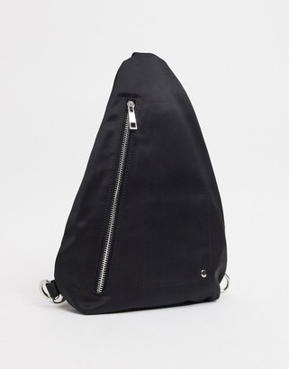 Nunoo Lulu cross-body sling bag in black