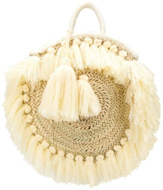 Gianluca Capannolo Fringed Woven Tote