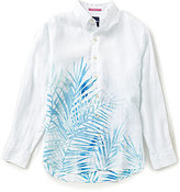 Tommy Bahama Long-Sleeve Fo Rio Fronds Print Woven Linen Shirt