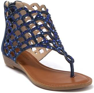 Zigi Mela Embellished Caged Sandal