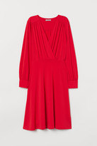 H&M Creped Jersey Dress - Red