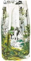 Alberta Ferretti nature print tie waist skirt