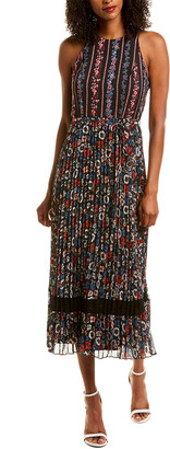 Julia Jordan Pleated Maxi Dress