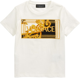 Versace Kids' '90s Logo Embroidered Graphic Tee