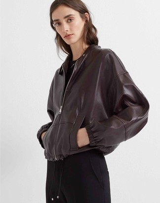 Club Monaco Blouson Sleeve Leather Jacket