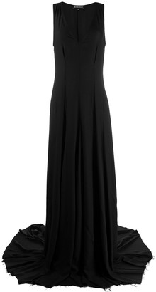 Ann Demeulemeester V-plunge gown