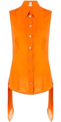 Hermes Pre-Owned layered pointed sleeveless blouse
