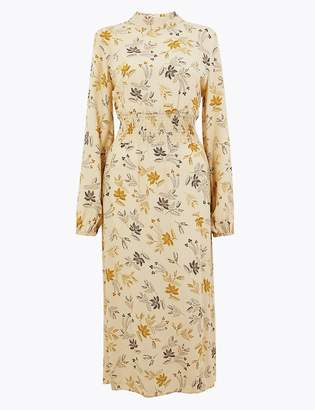 Marks and Spencer Floral Print Waisted Midi Dress