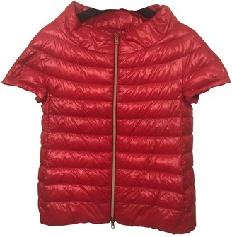 Herno Red Synthetic Coats