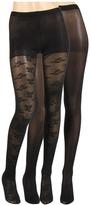 Betsey Johnson 2 Pack Solid/ Billion Of Bows Tight (Black/Black) - Hosiery