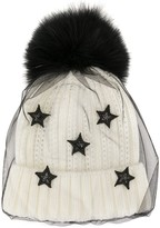 Venna layered-tulle beanie hat