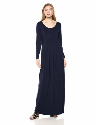 Daily Ritual Amazon Brand Women's Jersey Long-Sleeve Empire-Waist Maxi Dress