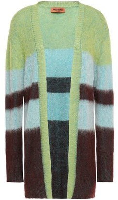 Missoni Brushed Color-block Intarsia-knit Cardigan
