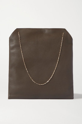 The Row Lunch Bag Leather Tote - Dark green
