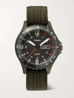 Timex Navi Land 38mm Stainless Steel and Ballistic Nylon-Webbing Watch - Men - Green