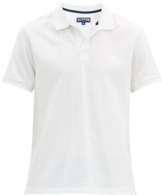 Vilebrequin Short Sleeved Cotton Pique Polo Shirt - Mens - White