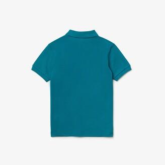 Lacoste Boys Stylized Logo Cotton Petit Pique Polo