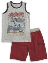 Calvin Klein Jeans Boys 2-7 Little Boys Logo Tank and Shorts Set