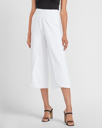Express Mid Rise Slit Front Cropped Pant