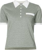 Thom Browne collar print polo shirt - women - Cotton - 40