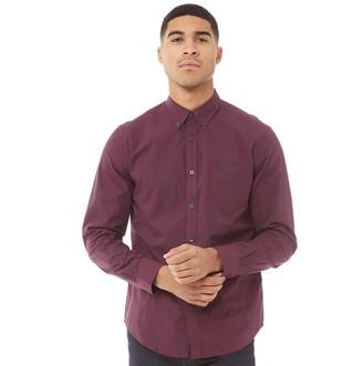 Ben Sherman Long Sleeve Gingham Shirt Red