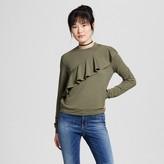 Mossimo Women's Ruffle Sweatshirt