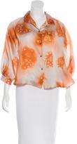 Rachel Comey Silk Floral Print Top