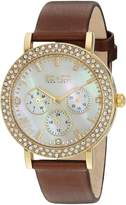 SO & CO New York Women's 5216L.3 Madison Analog Display Quartz Brown Watch