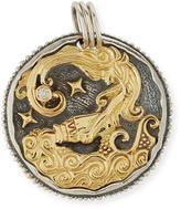 Konstantino Aquarius Carved Zodiac Pendant with Diamond