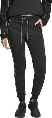 Urban Classics Urban Classic Women's Jogginghose Ladies Reflective Sweatpants Sports Trousers
