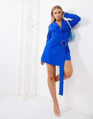 Club L London Club L structured blazer tux dress in cobalt