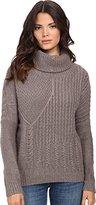 Splendid Women's Stanton Cable Turtleneck Sweater
