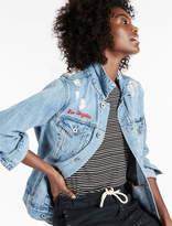 Lucky Brand The Boyfriend Denim Jacket With Embroidery